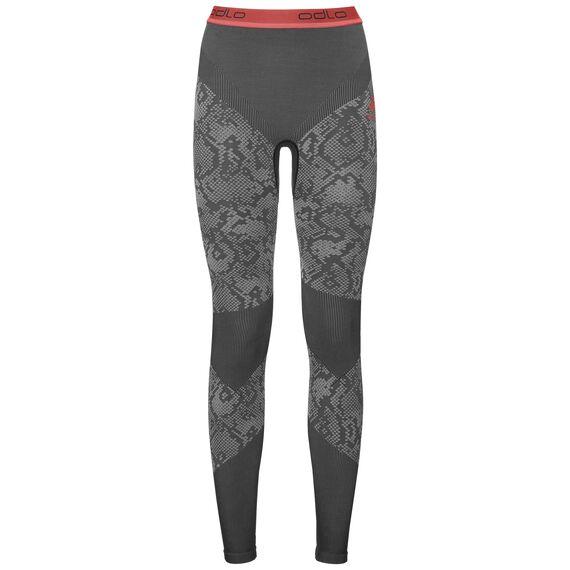 Pants Blackcomb EVOLUTION WARM, black - odlo concrete grey - hot coral, large