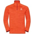 Men's MILLENNIUM ELEMENT Half-Zip Long-Sleeve Midlayer Top, orange.com melange, large