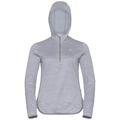 Sweat à capuche couche intermédiaire 1/2 zip STEAM, grey melange, large