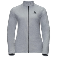 Midlayer full zip BERGEN, odlo concrete grey, large