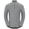 Herren ROYALE Midlayer mit 1/2 Reißverschluss, platinum grey - odlo steel grey - stripes, large