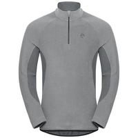 Pull ½ zippé ROYALE pour homme, platinum grey - odlo steel grey - stripes, large