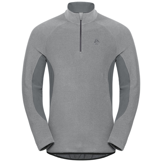 ROYALE-tussenlaag voor heren, platinum grey - odlo steel grey - stripes, large