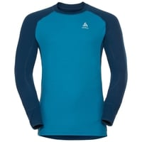 SVS top col ras du cou manches longues active Revelstoke Warm, poseidon - blue jewel, large