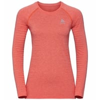 Women's SEAMLESS ELEMENT Long-Sleeve T-Shirt, hot coral melange, large