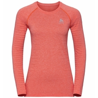 Maglia a manica lunga SEAMLESS ELEMENT da donna, hot coral melange, large