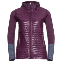 Hoody midlayer full zip ENGAGE, pickled beet - blue radiance, large