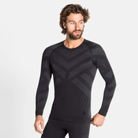 Herren NATURAL + KINSHIP WARM Baselayer-Shirt, black melange, large