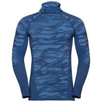 Maglia Base Layer a manica lunga con passamontagna BLACKCOMB da uomo, estate blue - directoire blue - directoire blue, large
