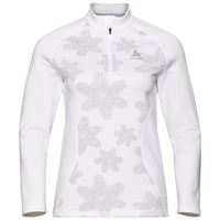 Midlayer con 1/2 zip SNOWCROSS da donna, white - AOP FW19, large