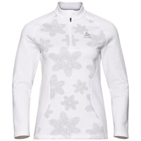 Women's SNOWCROSS 1/2 Zip Midlayer, white - AOP FW19, large