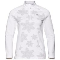 Pull ½ zip SNOWCROSS pour femme, white - AOP FW19, large