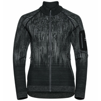 Top midlayer con zip intera BLACKCOMB da donna, odlo graphite grey - black, large