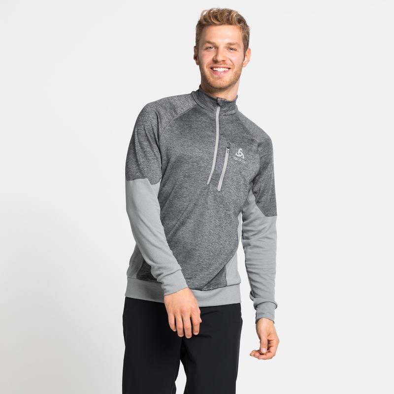 Men's MILLENNIUM YAKWARM 1/2 Zip Mid Layer, grey melange, large