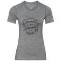 Damen ALLIANCE T-Shirt, grey melange - pine cone print FW18, large