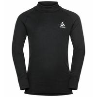 Top intimo a collo alto con mezza zip Active Warm Eco a manica lunga per bambini, black, large