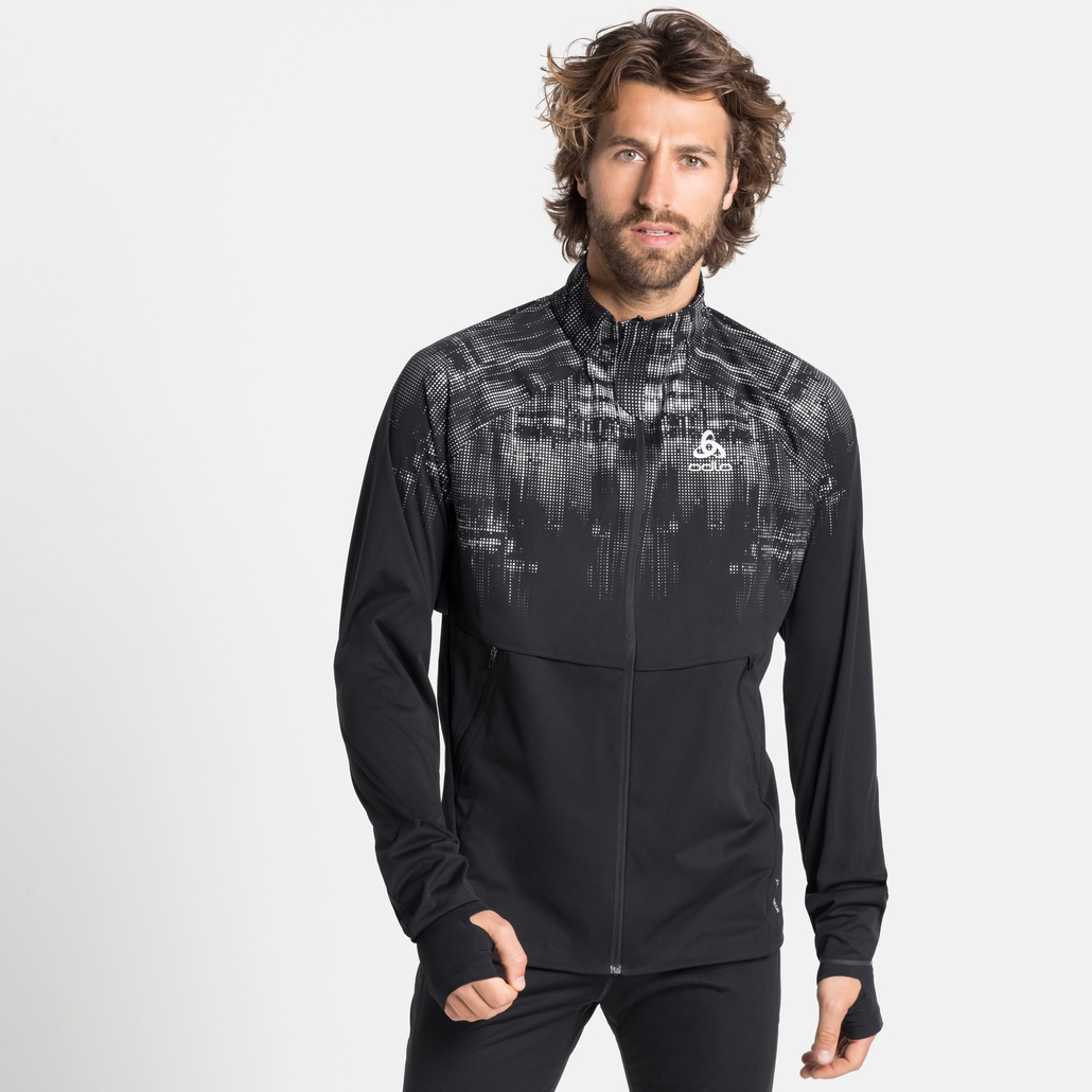 Men's ZEROWEIGHT PRO WARM REFLECT Jacket, black - reflective graphic FW20, large