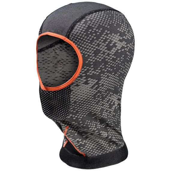 Face mask BLACKCOMB, black - odlo concrete grey - orangeade, large