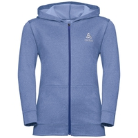 Hoody midlayer full zip ALAGNA KIDS, indigo melange, large