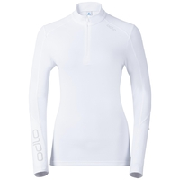 Stand-up collar l/s 1/2 zip SILLIAN, white, large