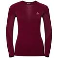 Sous-vêtement technique T-shirt manches longues PERFORMANCE WARM pour femme, rumba red - mesa rose, large