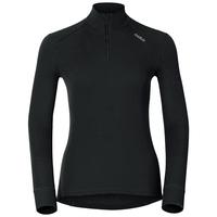 Women's ACTIVE WARM 1/2 Zip Turtle-Neck Long-Sleeve Base Layer Top, black, large