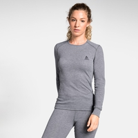 Maglia Base Layer a manica lunga ACTIVE WARM da donna, grey melange, large