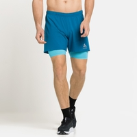 Herren ZEROWEIGHT 5 INCH 2-in-1 Laufshorts, mykonos blue - horizon blue, large