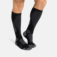 Chaussettes de ski unisexes MUSCLE FORCE ACTIVE WARM, black - odlo graphite grey, large
