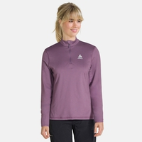 Women's ALAGNA 1/2 Zip Midlayer, vintage violet, large