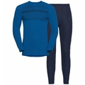 Set ACTIVE WARM X-MAS ST, energy blue - diving navy, large