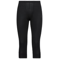 Men's ACTIVE WARM 3/4 Base Layer Pants, black, large