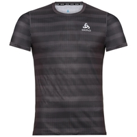 Men's CERAMICOOL BASE LAYER PRINT T-Shirt, odlo graphite grey - AOP SS19, large