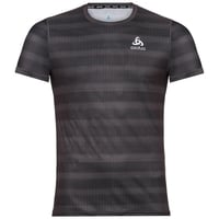 T-Shirt CERAMICOOL BASE LAYER PRINT pour homme, odlo graphite grey - AOP SS19, large