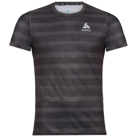 BL TOP s/s CERAMICOOL BLACKCOMB, odlo graphite grey - AOP SS19, large