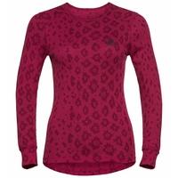X-MAS ACTIVE WARM-sportonderkleding met lange mouwen voor dames, cerise - AOP FW19, large
