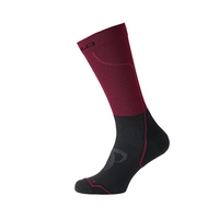 Socks long CERAMIWARM, rumba red - black, large