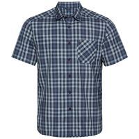 Shirt k/m MYTHEN, faded denim - blue indigo - diving navy - check, large