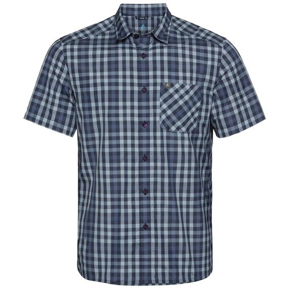 Shirt MYTHEN, faded denim - blue indigo - diving navy - check, large