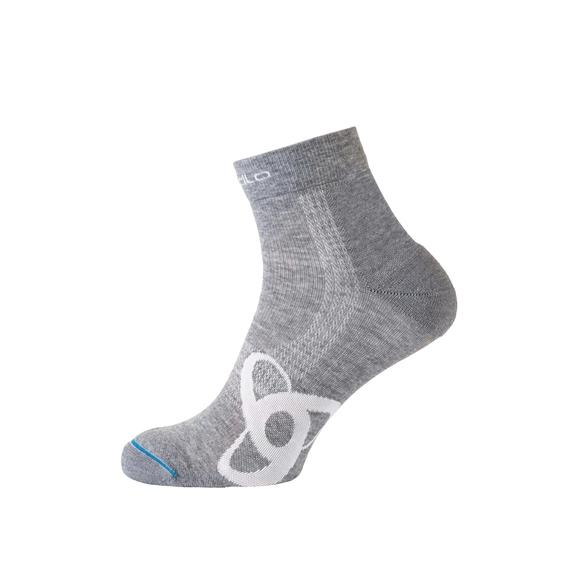 Socks short Natural +  Light, grey melange, large