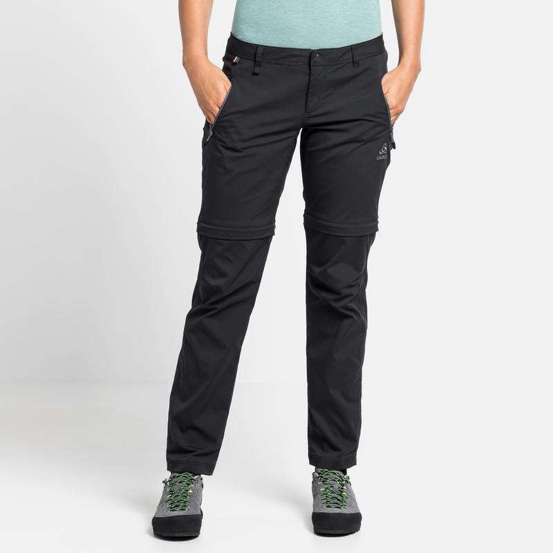 Women's WEDGEMOUNT Zip-Off Pants, black, large