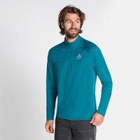 Men's CERAMIWARM ELEMENT Half-Zip Long-Sleeve Midlayer Top, tumultuous sea, large