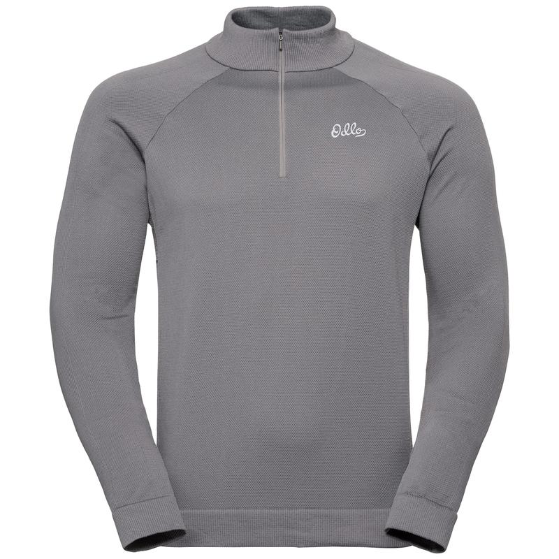 Men's Martin 1/2 Zip Midlayer, odlo concrete grey, large