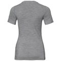 ALLIANCE Baselayer T-Shirt, grey melange - leaves on waist print SS19, large