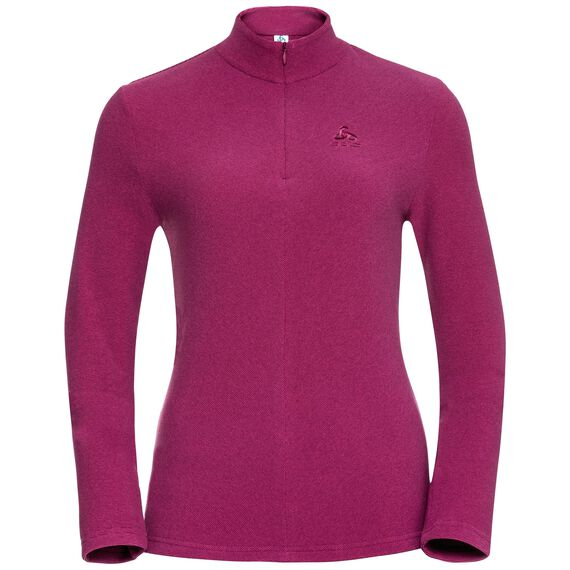 Midlayer 1/2 zip ROY, zinfandel - sangria, large