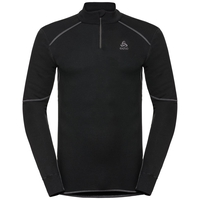 Men's ACTIVE X-WARM 1/2 Zip Turtle-Neck Long-Sleeve Base Layer Top, black, large