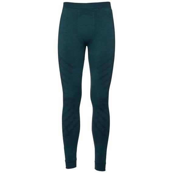 Men's NATURAL + KINSHIP WARM Base Layer Pants, blue coral melange, large