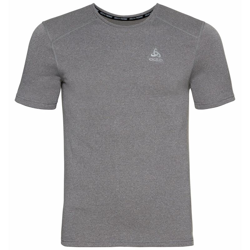 Men's ACTIVE THERMIC Base Layer T-Shirt, grey melange, large