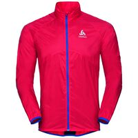 Jacket OMNIUS, fiery red - energy blue, large