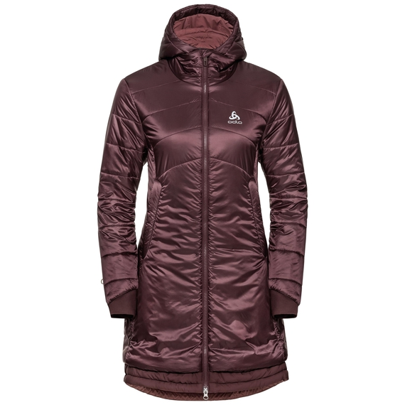 Women's COCOON S-THERMIC Parka, decadent chocolate, large
